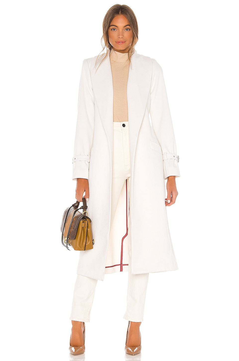 PAIGE Greylin Wool Coat in Gardenia
