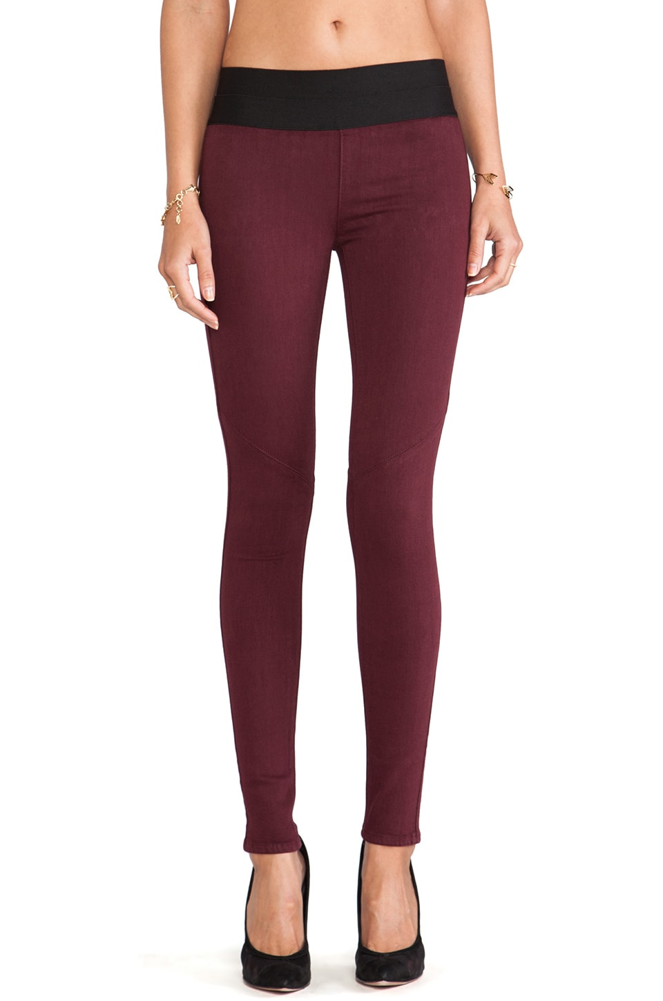 PAIGE Denim Glam Rock Legging in Lust