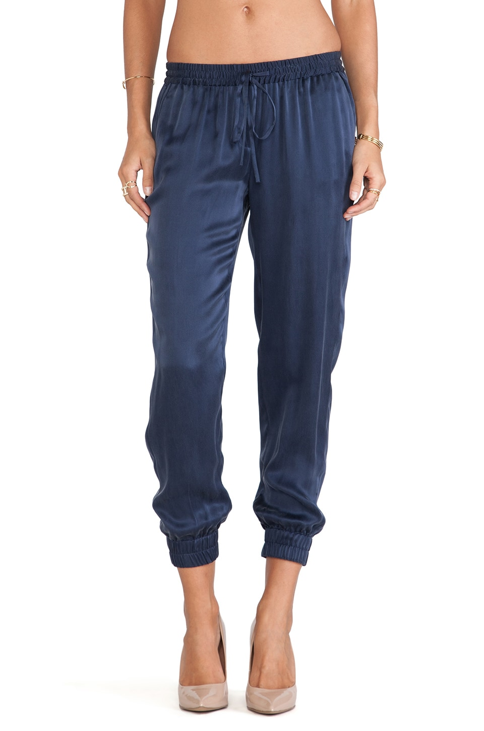 PAIGE Jadyn Pant in Dark Ink Blue