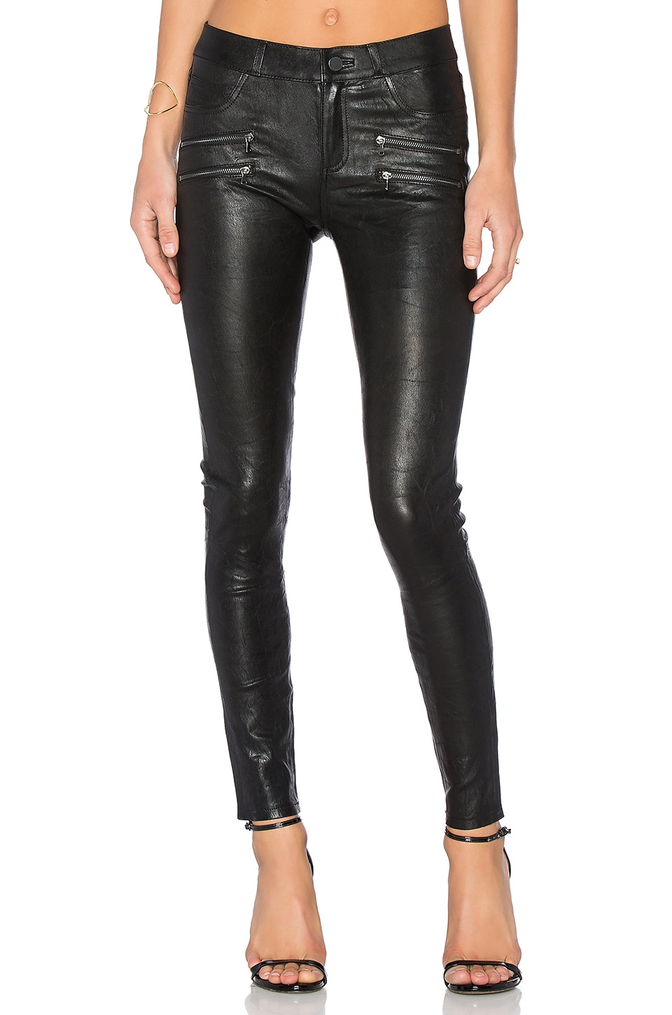 PAIGE Edgemont Leather Pant in Black