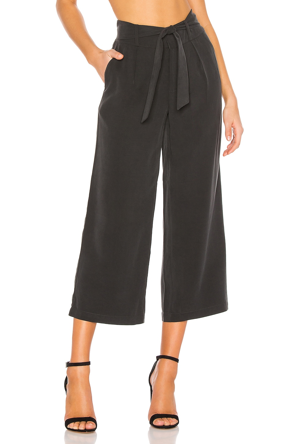 PAIGE Stacee Culotte in Black