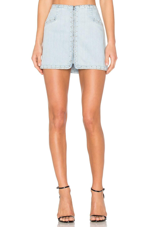 Rosie HW x PAIGE Hattie Embroidered Zip Skirt by PAIGE