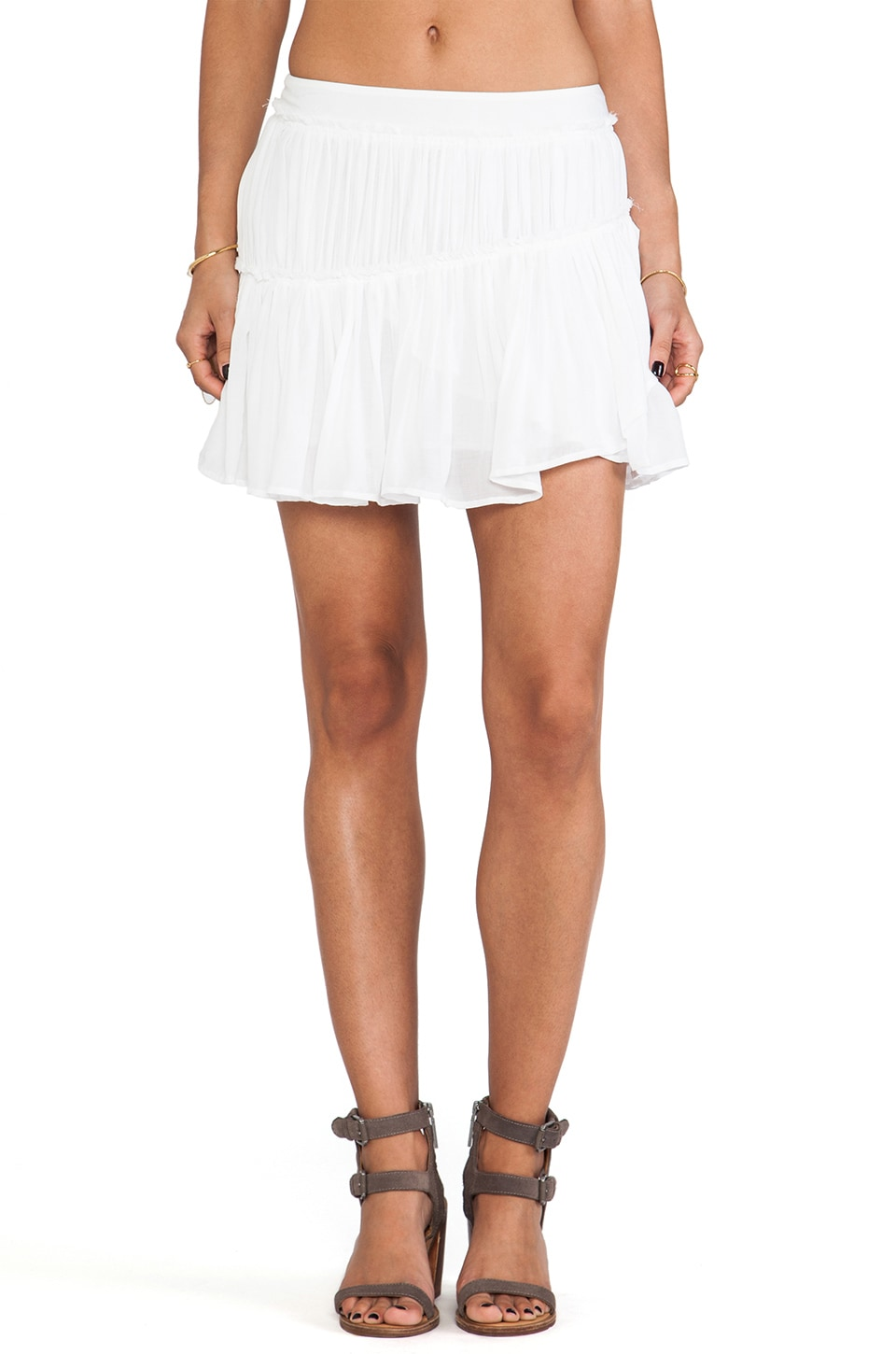 PAIGE Mari Skirt in White Cloud
