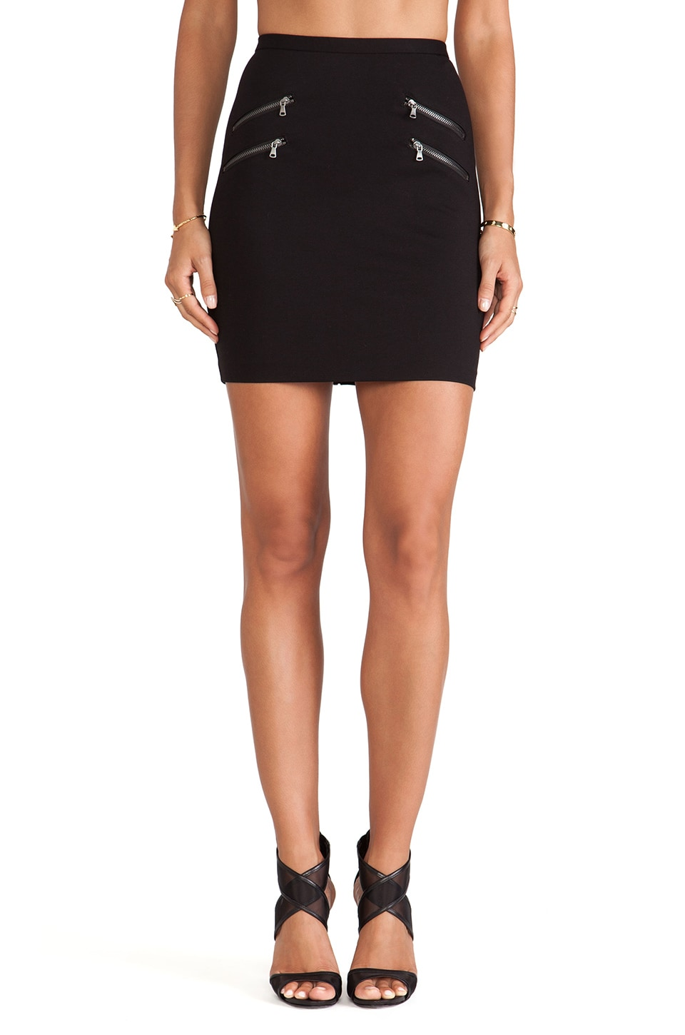 PAIGE Edgemont Skirt in Black