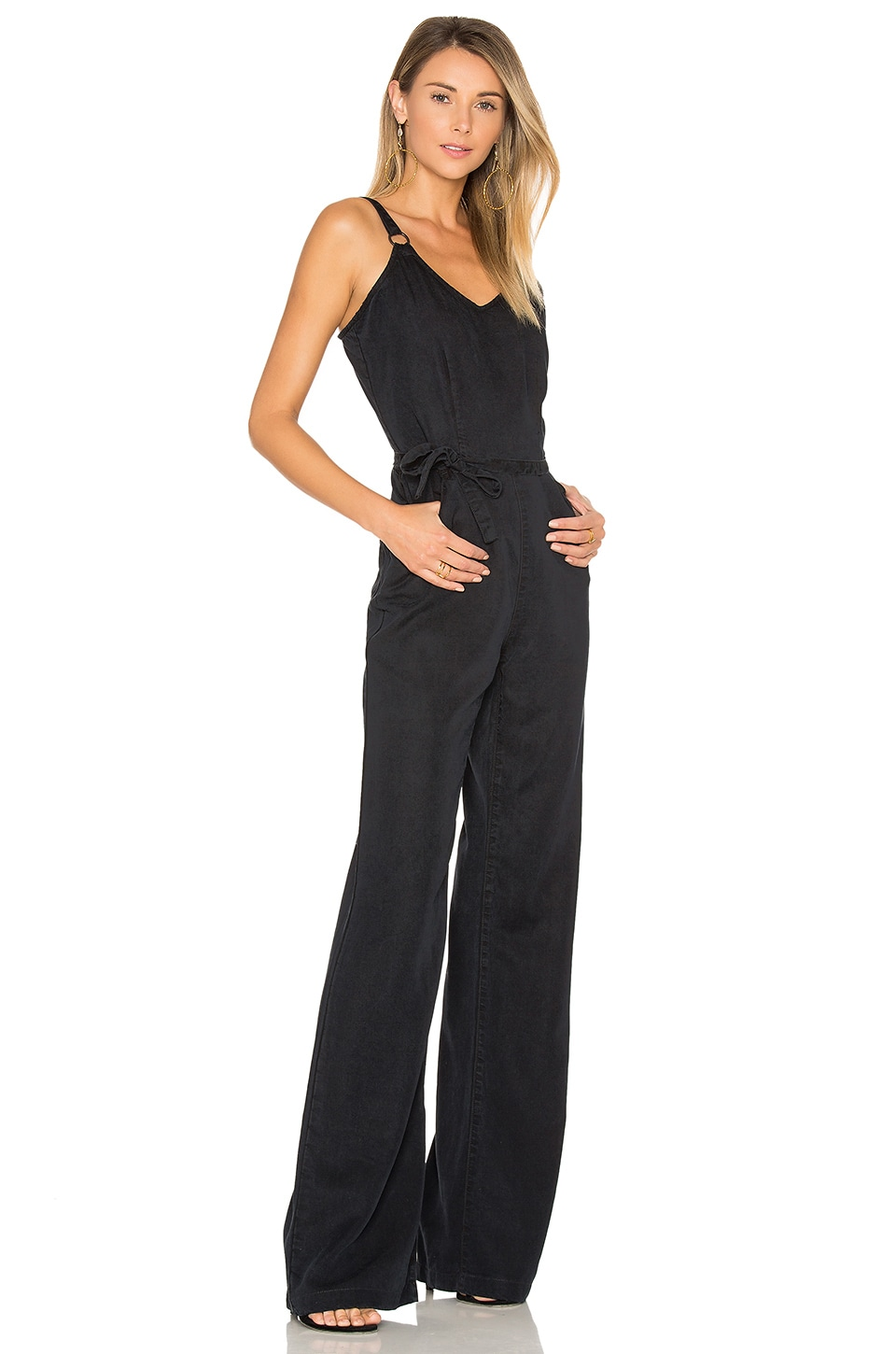 PAIGE Denim Hazelle Jumpsuit in Black Pearl