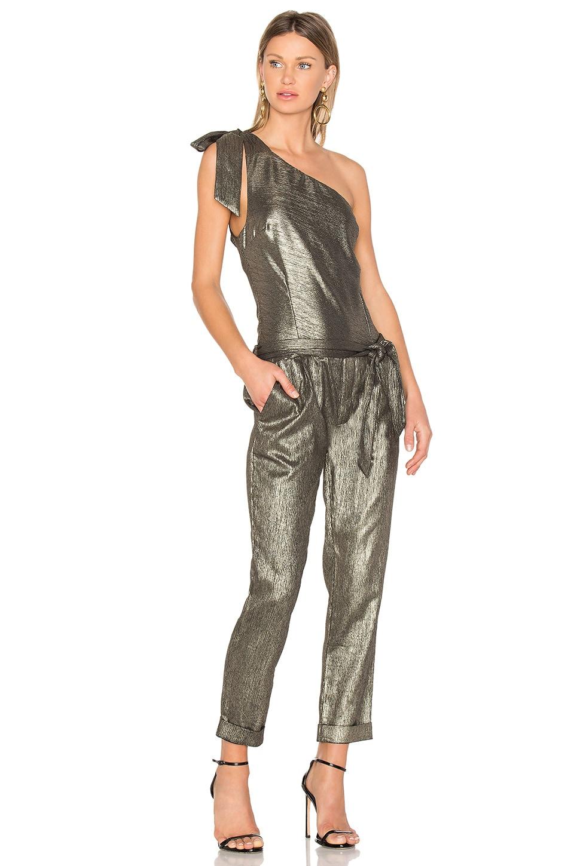 PAIGE x Rosie HW Maisie Jumpsuit in Gold Metallic Foil