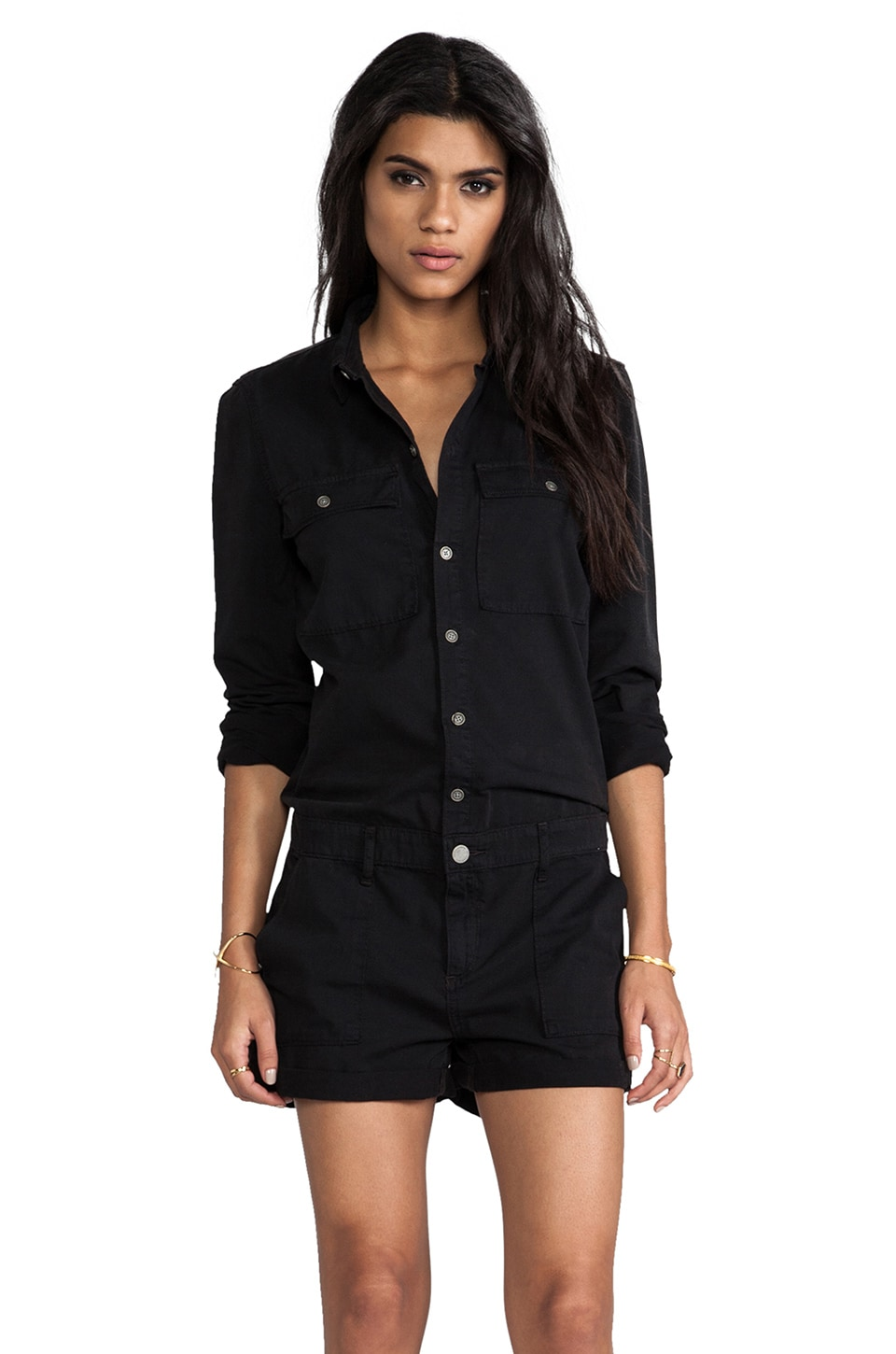 Paige Denim Jackson Romper in Vintage Black