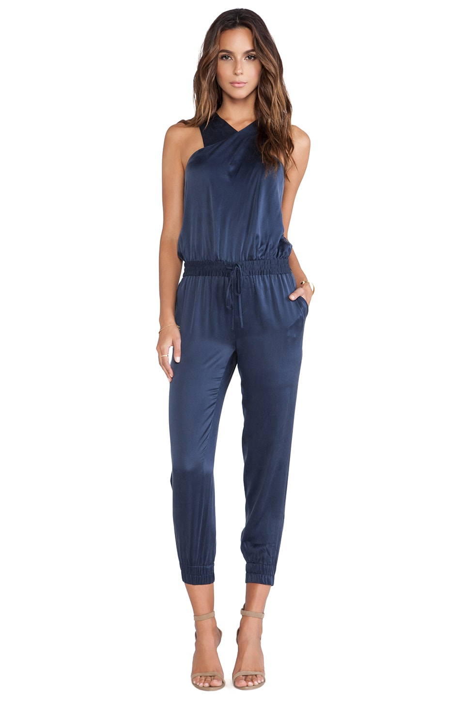 PAIGE Garland Jumpsuit in Dark Ink Blue