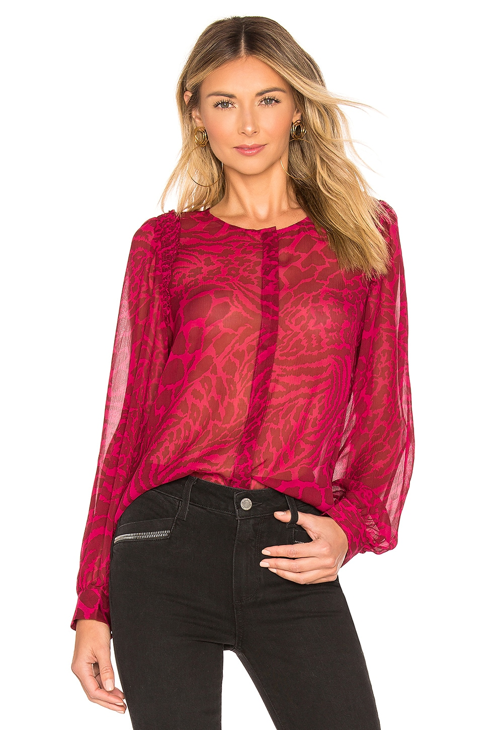 PAIGE Ambrosine Top in Rumba Red