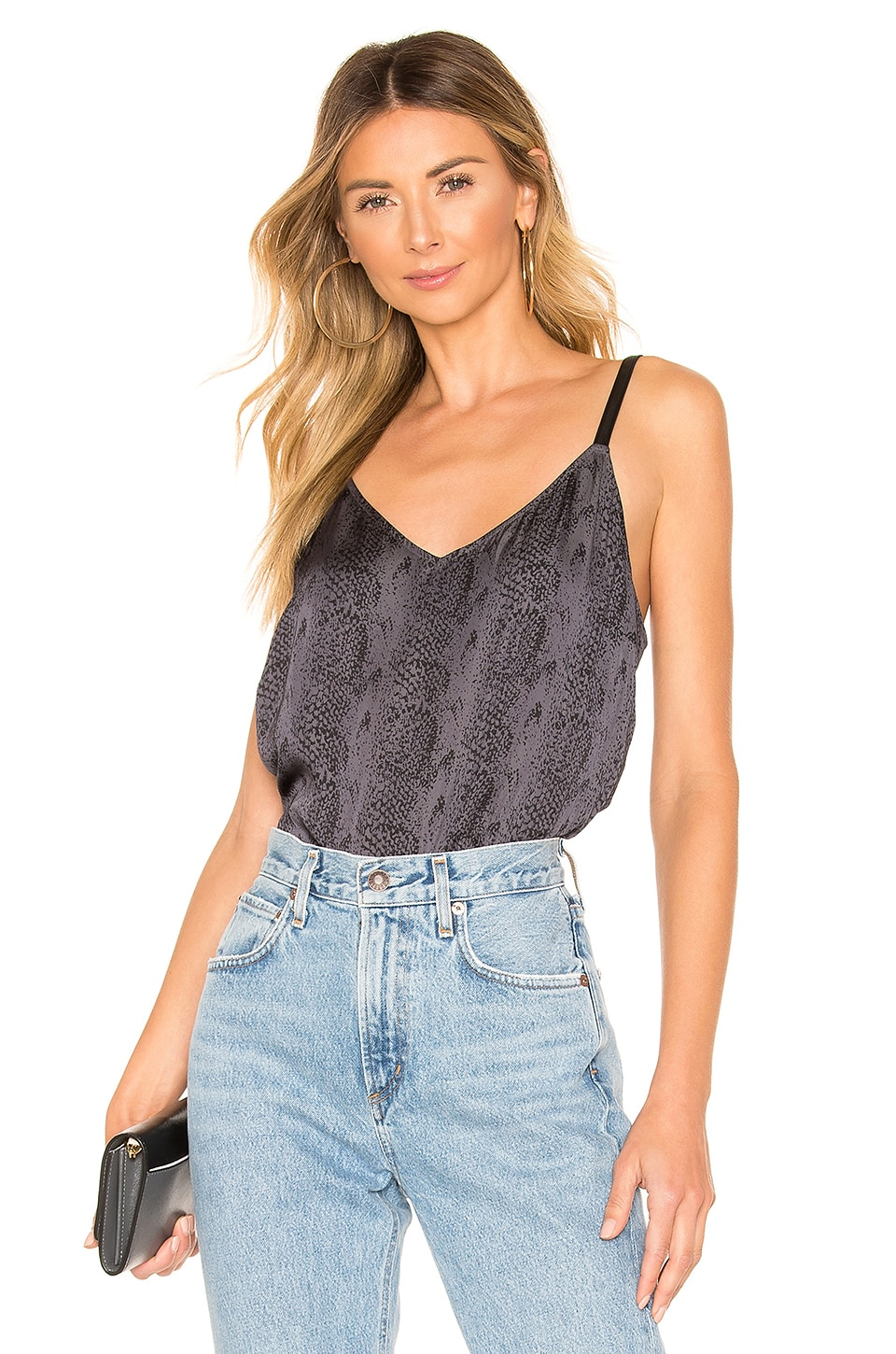 PAIGE Cicely Cami in Dark Night & Sonoran Snake