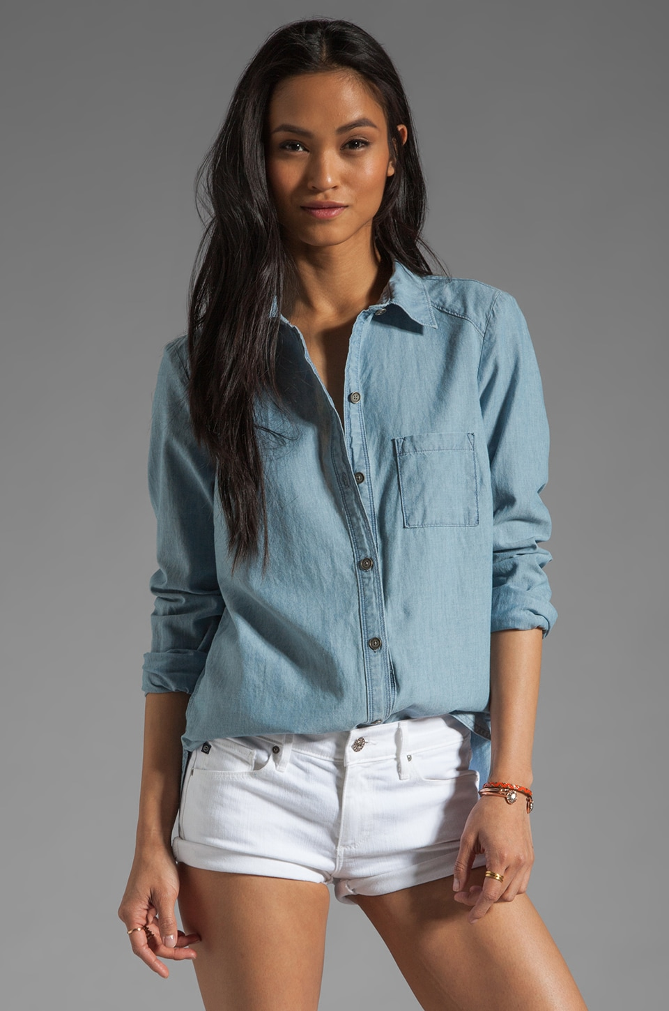 PAIGE Eden Shirt in Ava Chambray