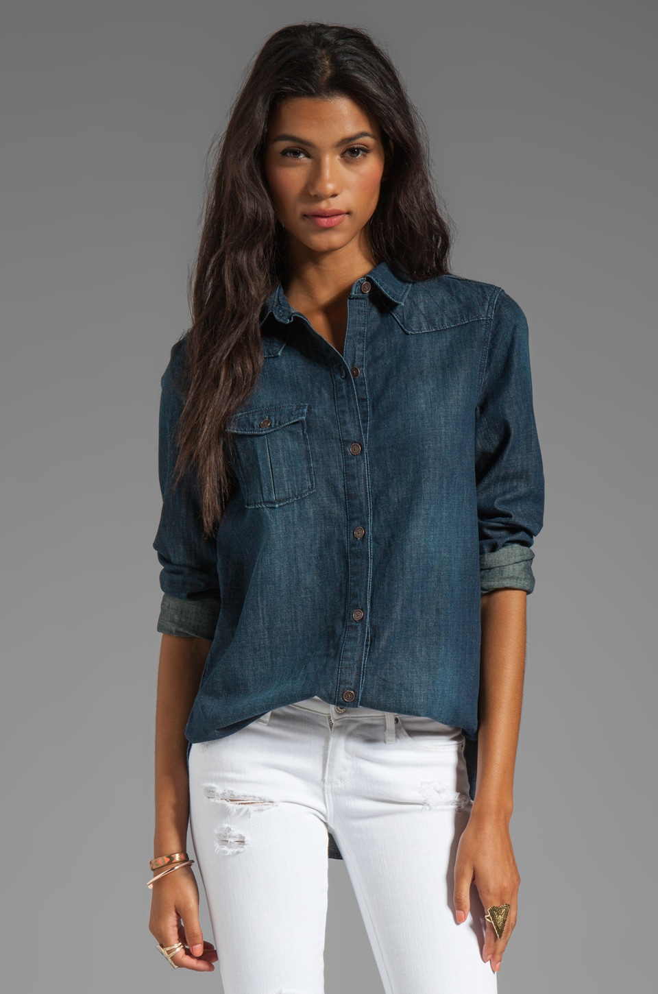 Paige Denim Brooke Denim Shirt in Wayside