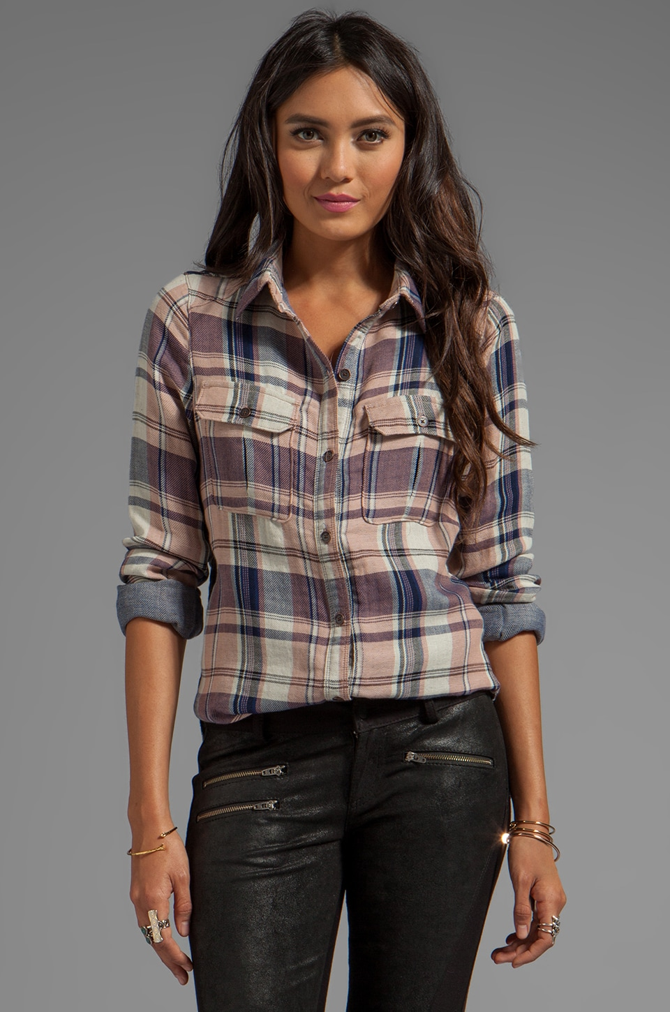 PAIGE Kadie Shirt in First Kiss Plaid