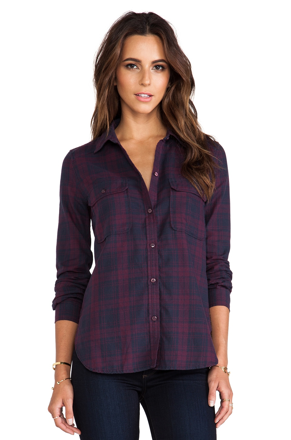 PAIGE Trudy Shirt in Purple Dusk