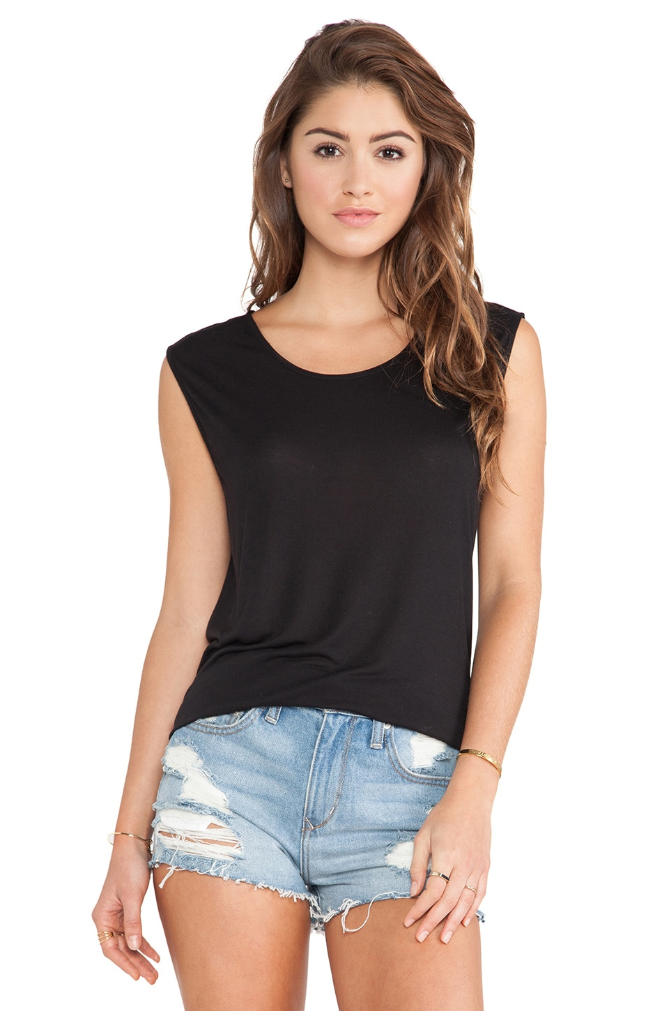 Paige Denim Gracelyn Tee in Black