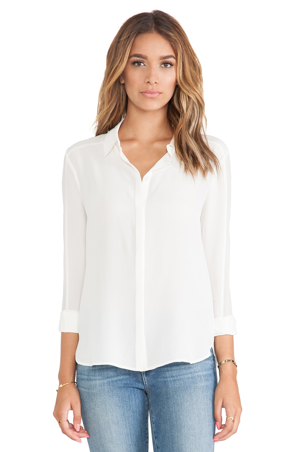 Paige Denim Tara Shirt in Antique White