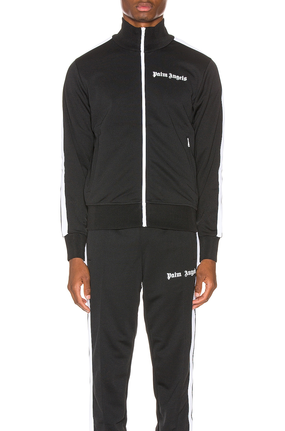 Palm Angels Classic Track Jacket in Black & White