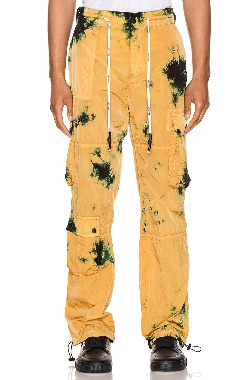Palm Angels Cargo Tie-Dye Pants in Dark Brown