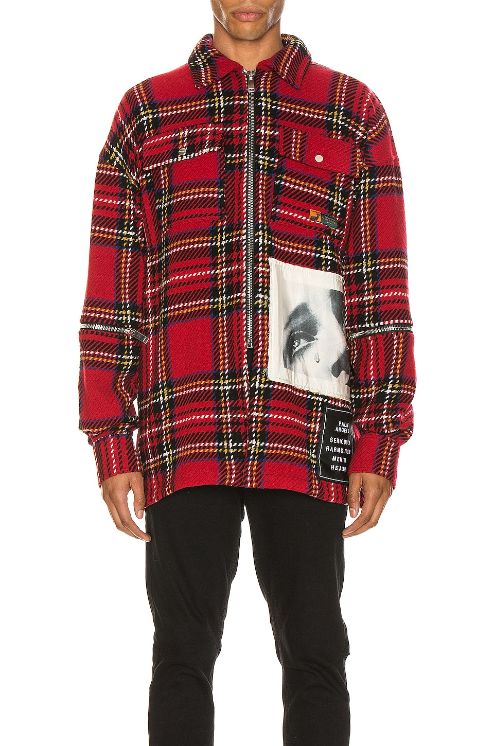 Palm Angels Checkered Overshirt in Multi