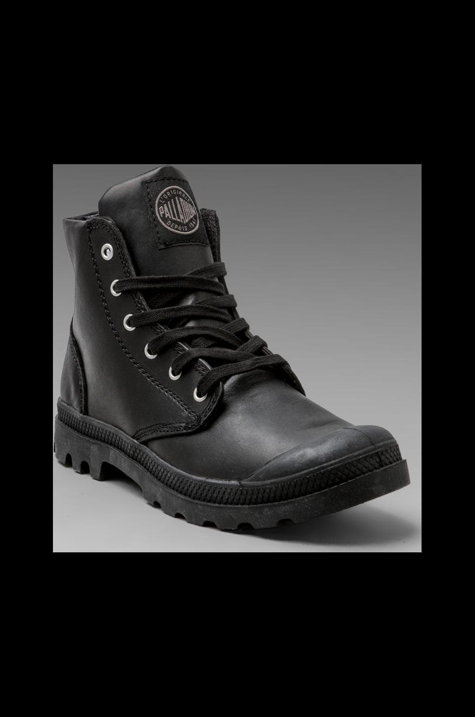 Palladium Pampa Hi Leather in Black