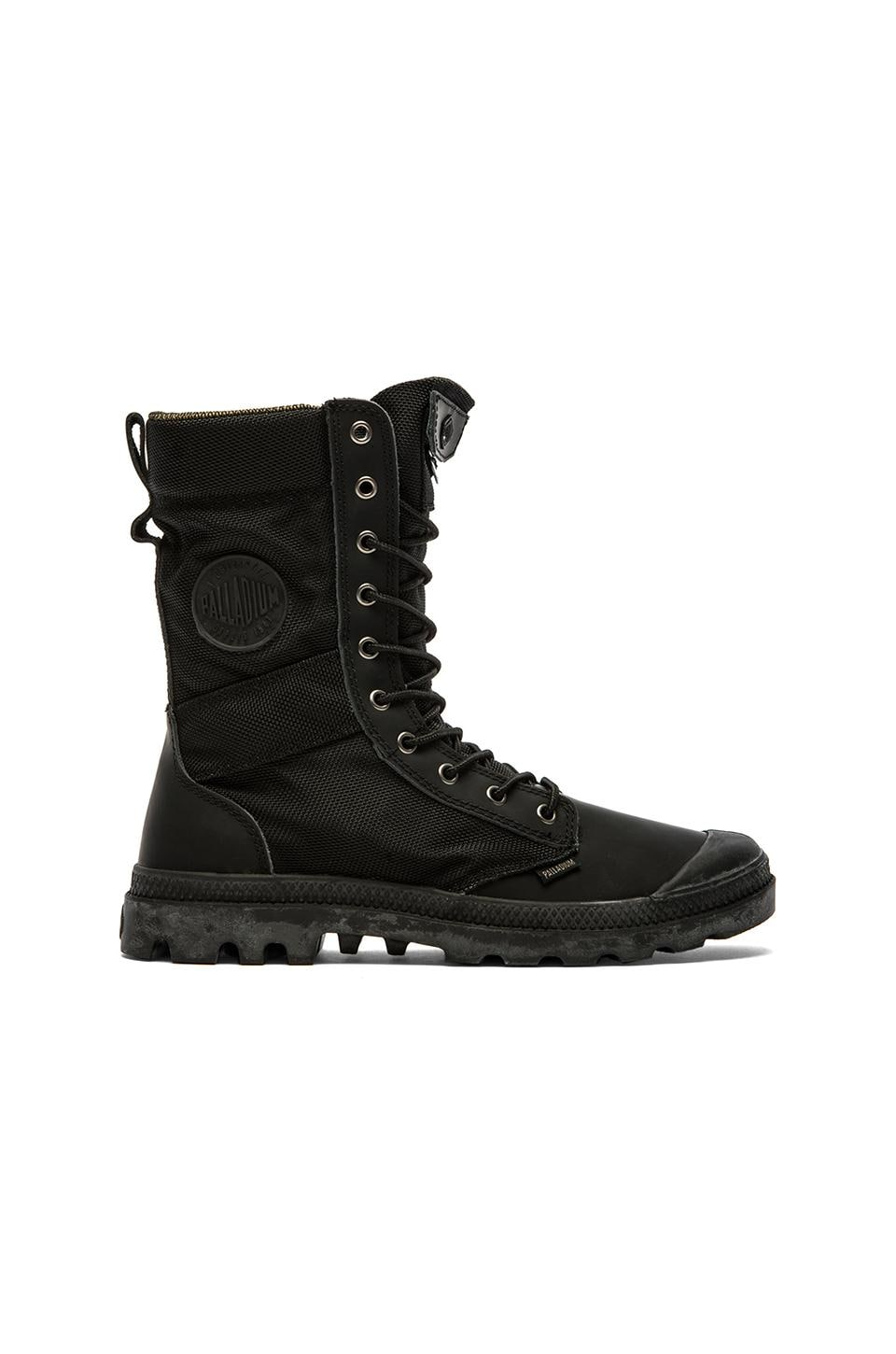 Palladium Ballistic Nylon & Specialty Leather Combo Pampa Tactical in Black/Metal