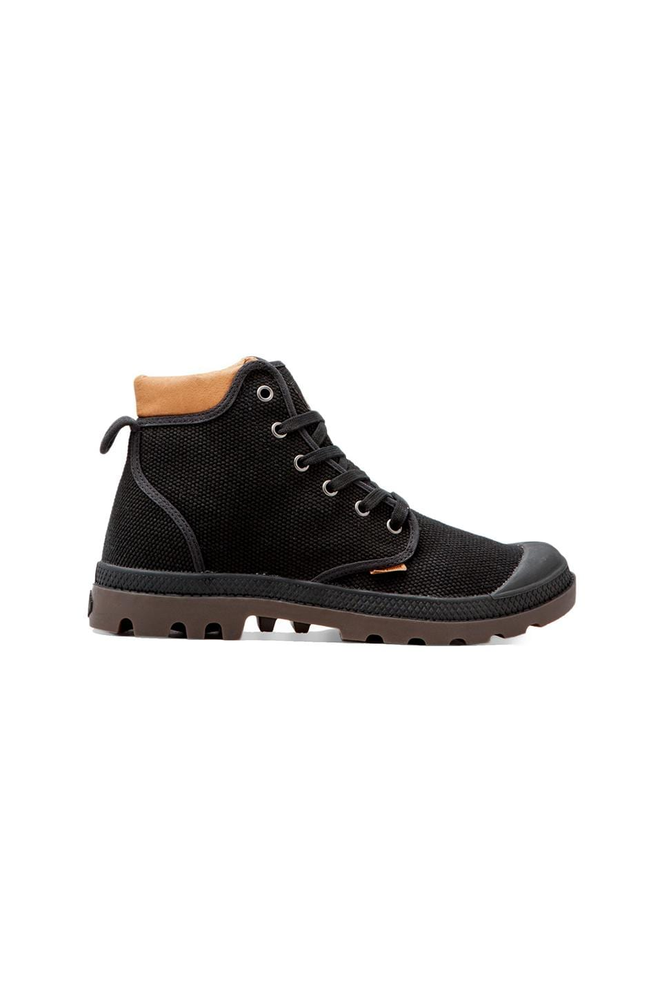 Palladium Palladium Pampa Hi Cuff in Black/Dark Gum