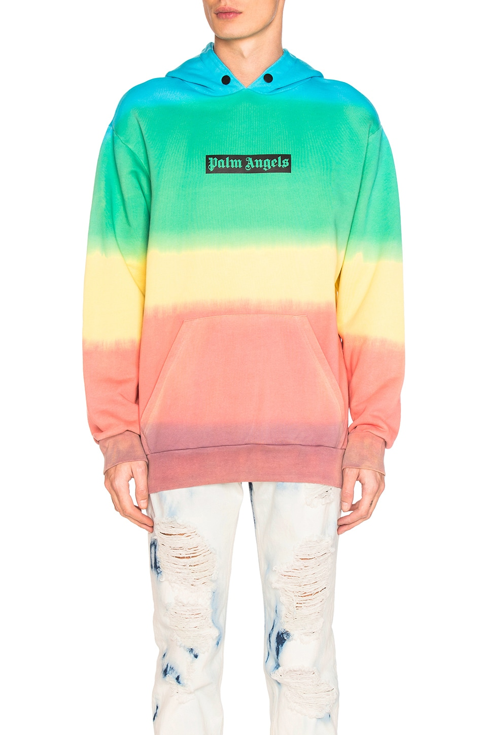 Rainbow Tie Dye Hoody by Palm Angels