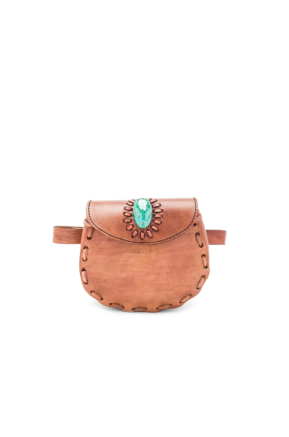 Pamela V. Darlene Fannypack With Turquoise in Brown