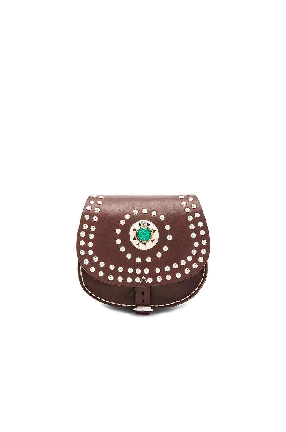 Pamela V. Cochelita Small Crossbody Bag in Dark Brown