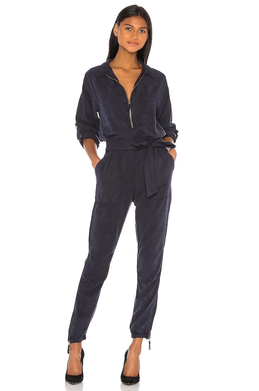 Pam & Gela Zip Jumpsuit in Washed Navy