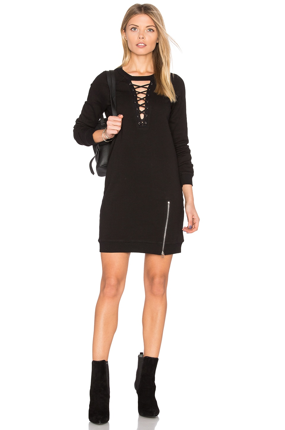 Choker Lace Up Dress by Pam & Gela