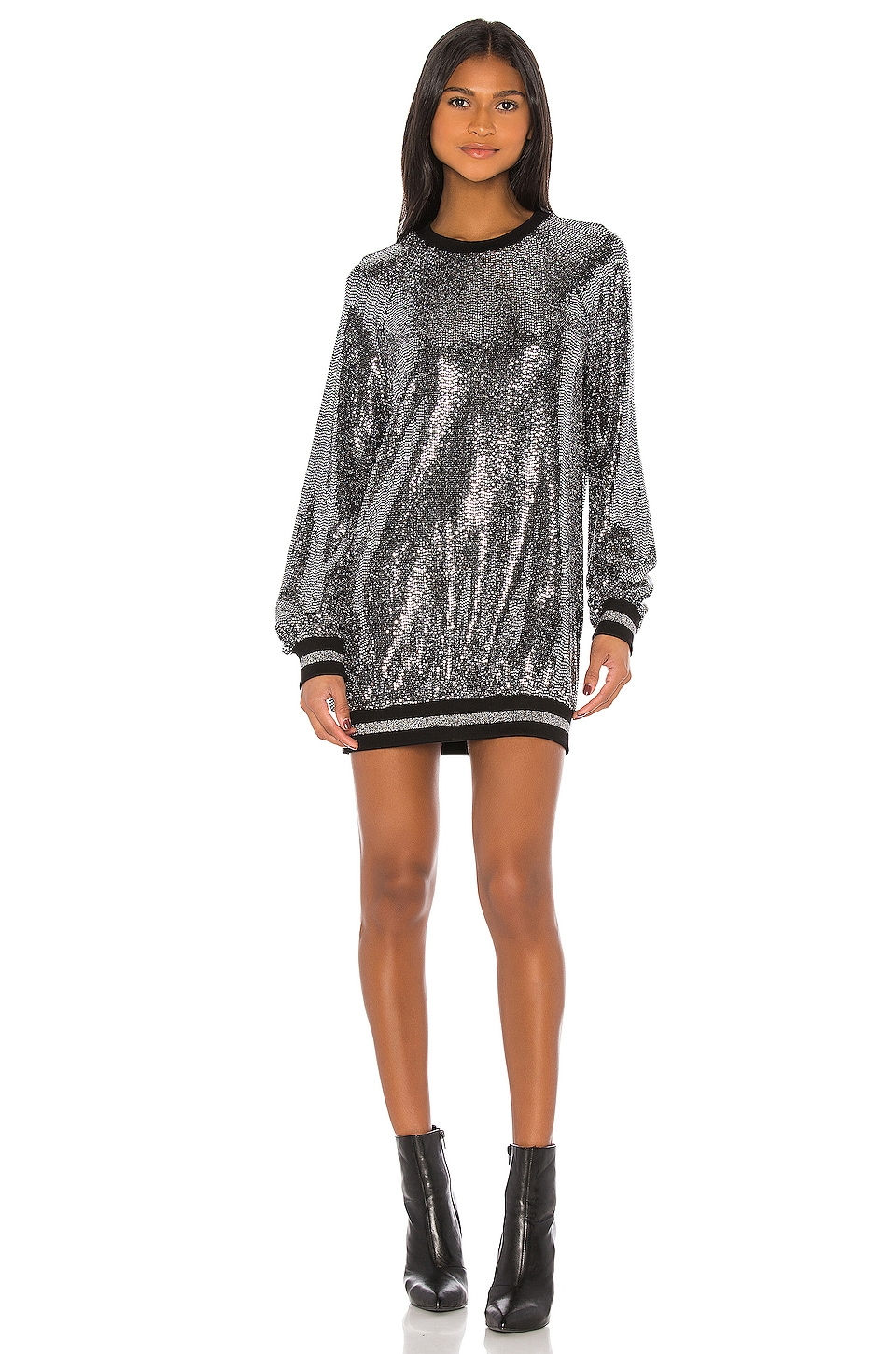 Pam & Gela Mirror Ball Slouchy Dress in Mirror Ball