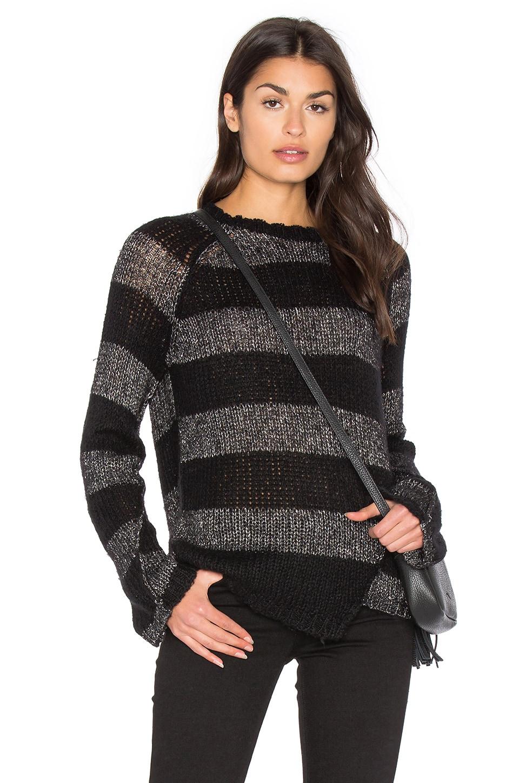 Offset Stripe Sweater by Pam & Gela