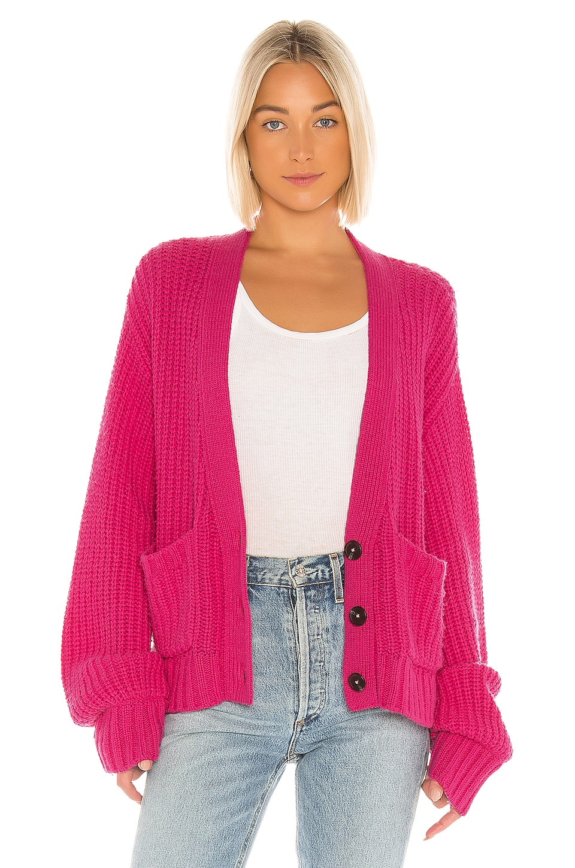 Pam & Gela Boxy Cardigan in Pink