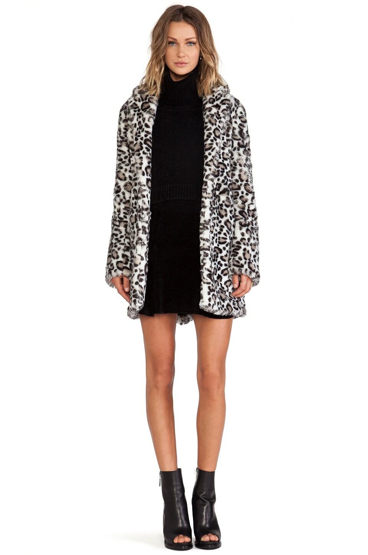 Pam & Gela Faux Fur Coat in Leopard