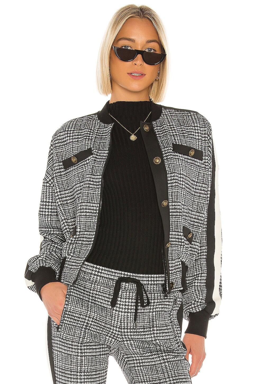 Pam & Gela Glen Tart Blouson Jacket in Glen Plaid Print