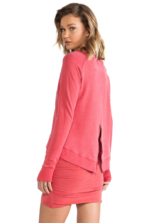 Pam & Gela Hi-Lo Sweatshirt in Red