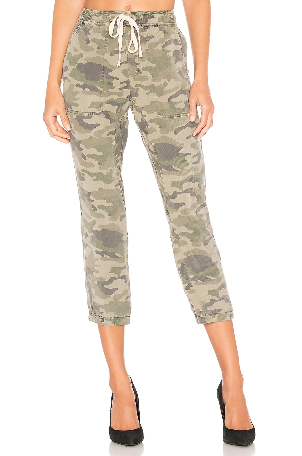 Pam & Gela Pants PAM & GELA LACE UP PANT IN ARMY.