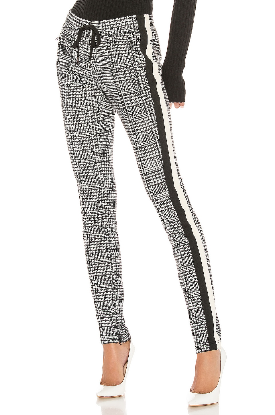 Pam & Gela Glen Tart Cigarette Pant in Glen Plaid Print
