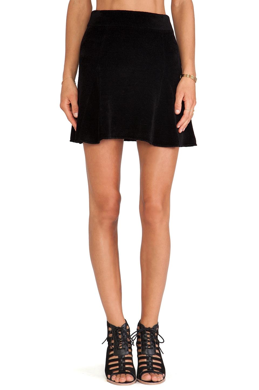 Pam & Gela Chenille Skirt in Black