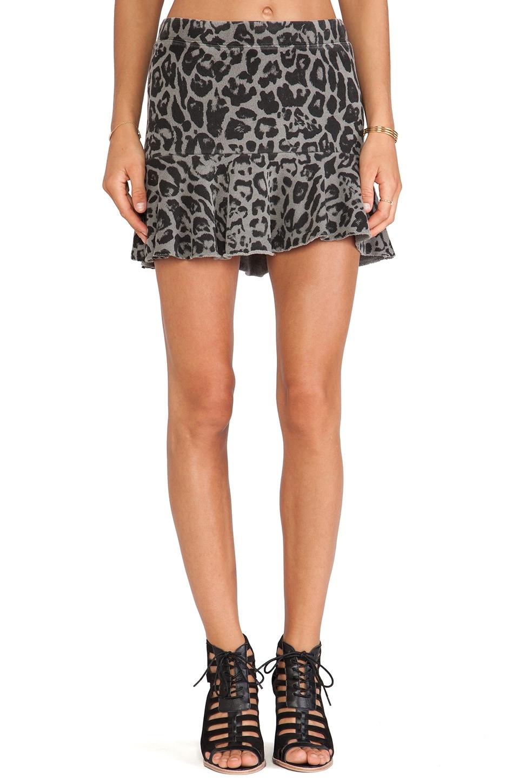 Pam & Gela Kate Flippy Skirt in Pigment Grey Leopard