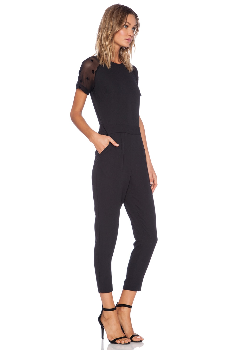 Get free shipping on Black Halo Spencer Short-Sleeve Jumpsuit w/ Slit at Neiman Marcus. Shop the latest luxury fashions from top designers.