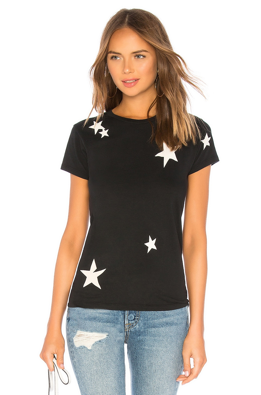 Pam & Gela Stars Basic Crew Tee in Blac5