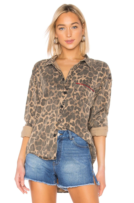 Pam & Gela Oversized Shirt en Leopard
