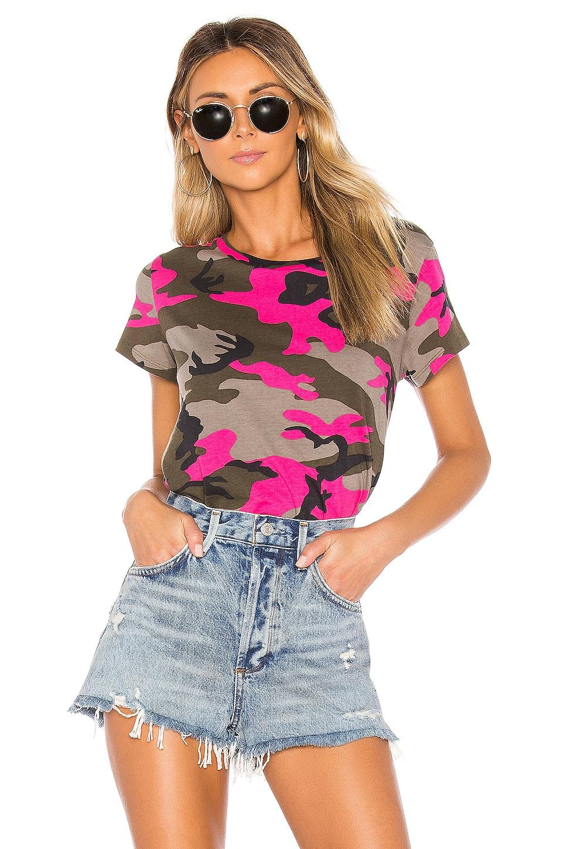 Pam & Gela Women's Camo Short Sleeve Basic Tee