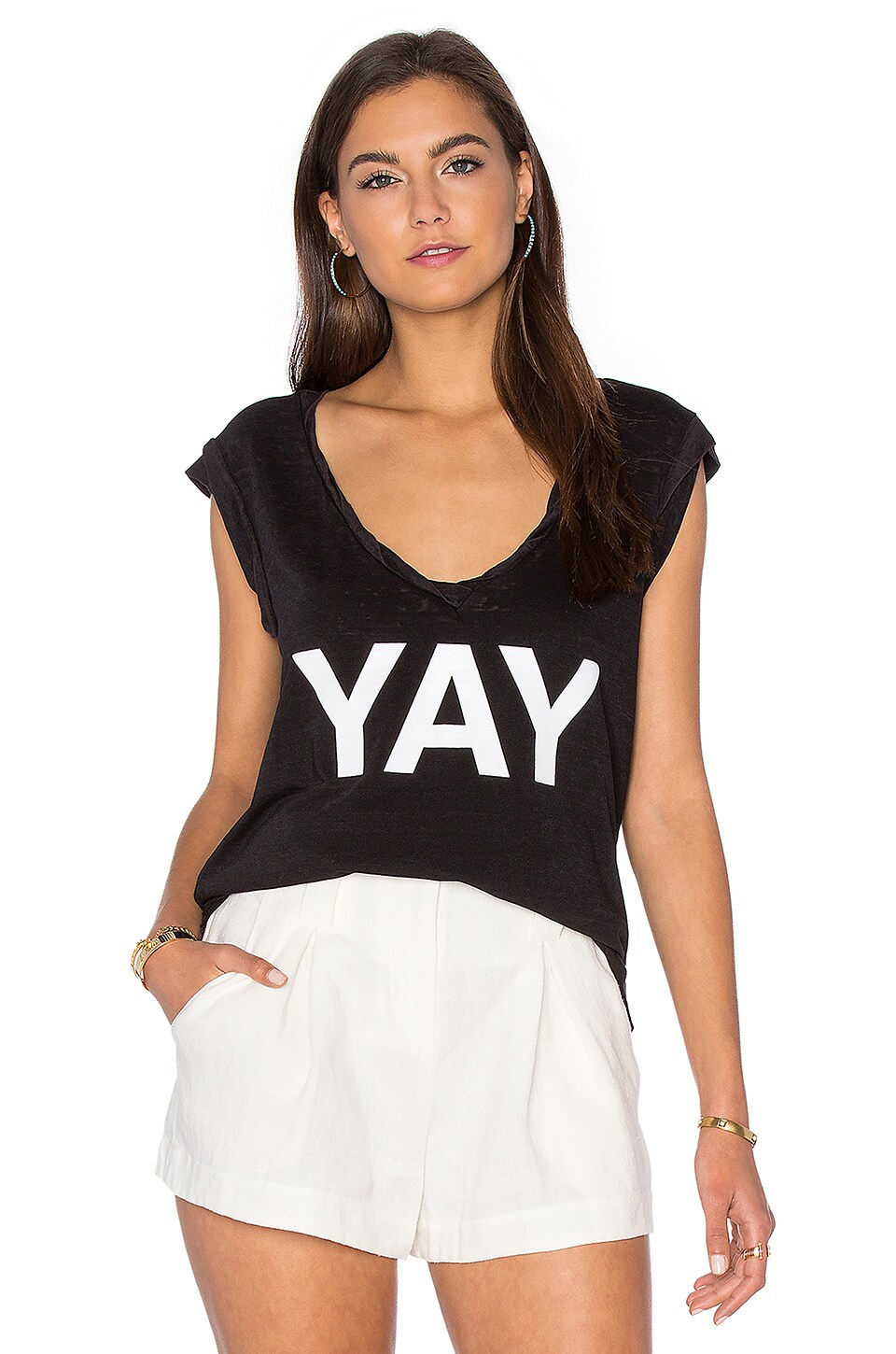 Kate V Neck Tee by Pam & Gela