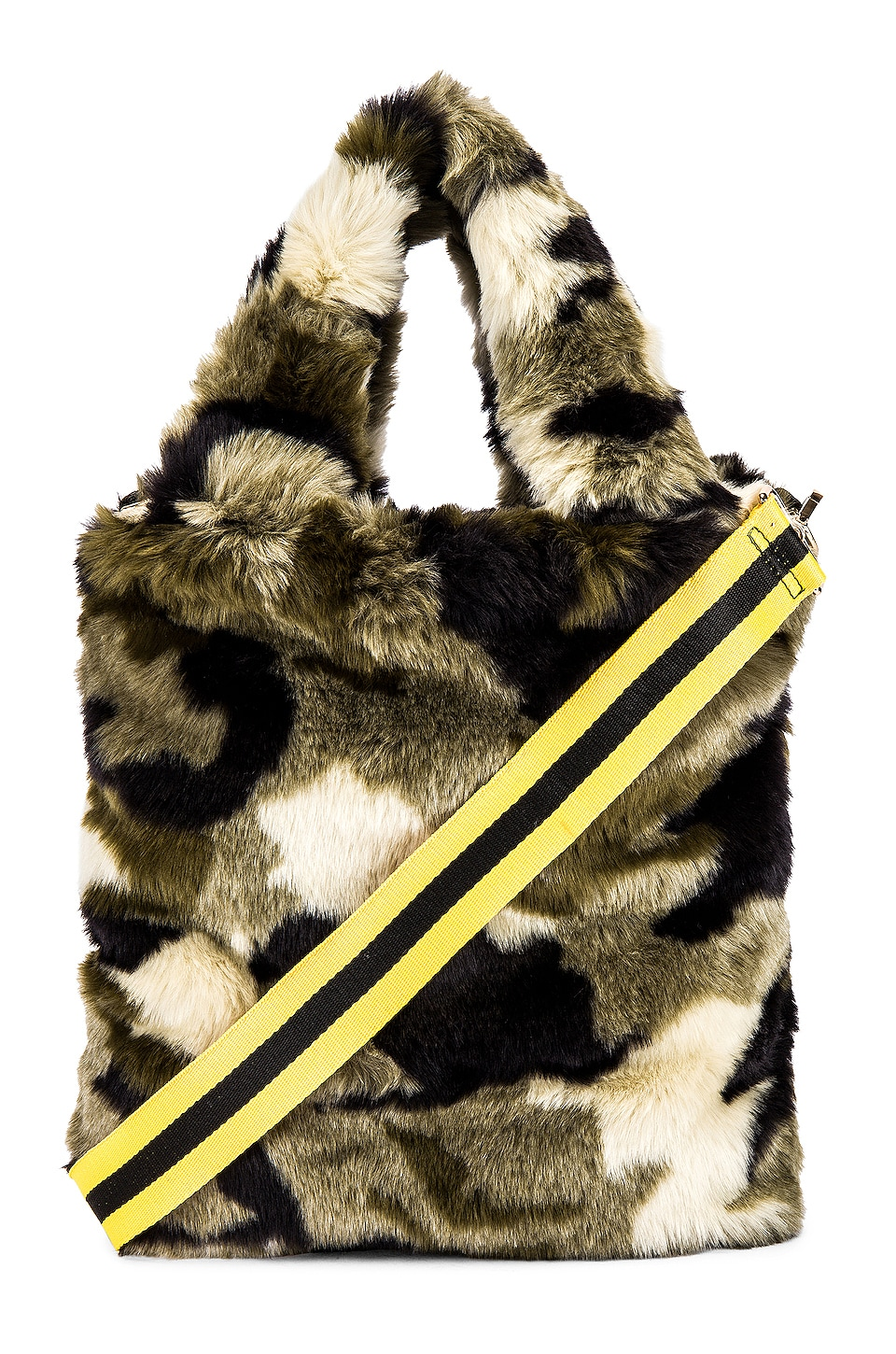 Pam & Gela Camo Faux Fur Bag in Camo Print
