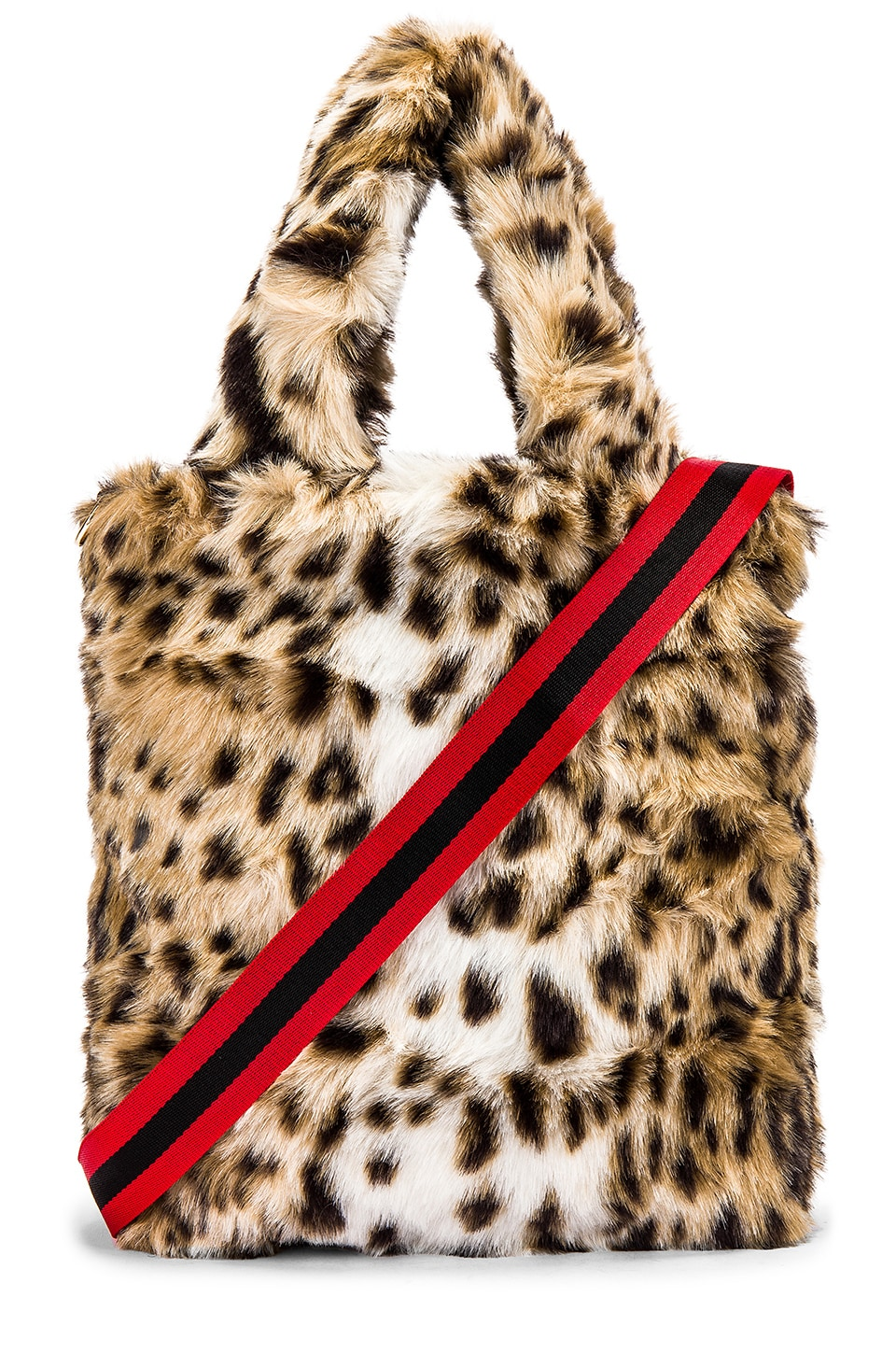 Pam & Gela Leopard Faux Fur Bag in Leopard