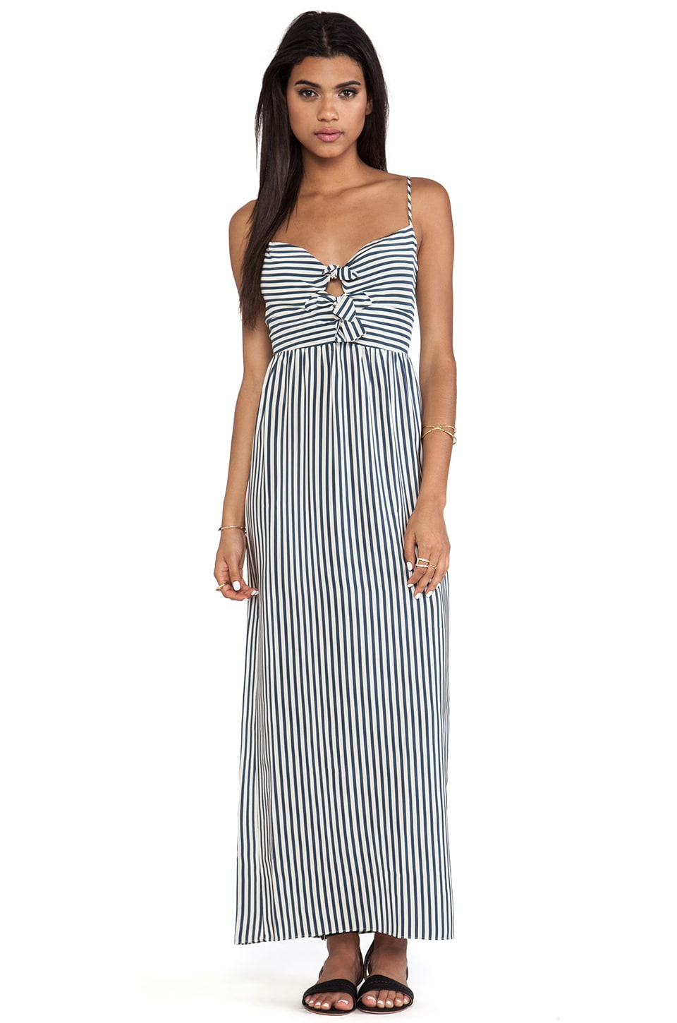 Paper Crown by Lauren Conrad Savannah Striped Dress in Navy/Cream