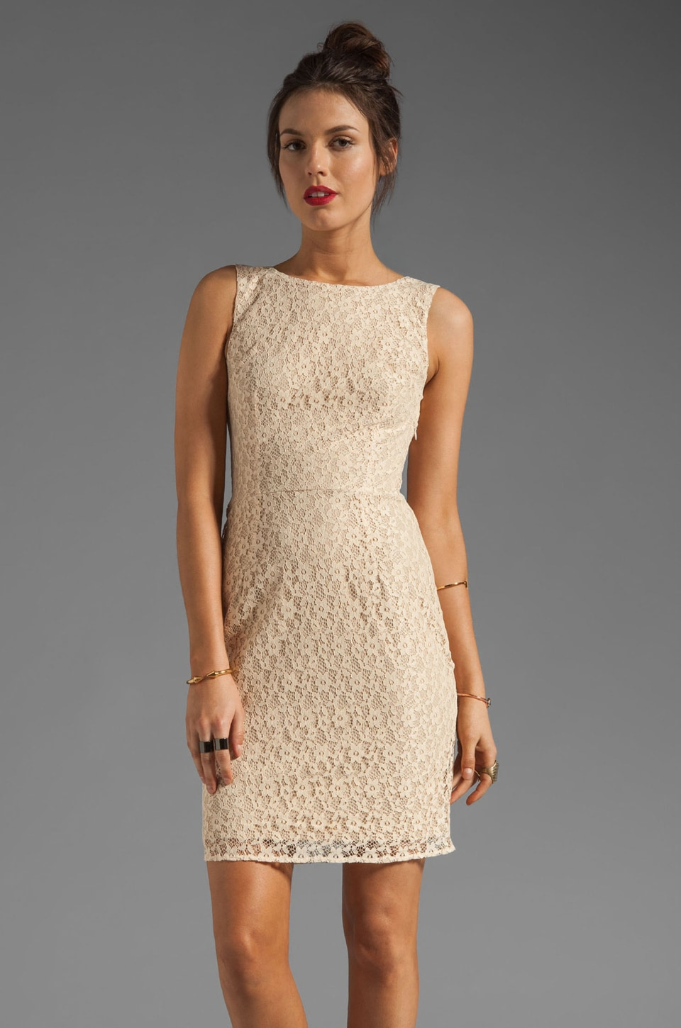 Paper Crown by Lauren Conrad Dartmouth Lace Dress in Peach
